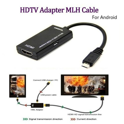 Micro USB to HDMI TV Out HDTV MHL Adapter Cable for Phone or Tablet