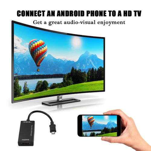 1080P Micro USB to HDMI Adapter 8-channel Stereo Sound 5pin HDMI Video Adapter for Android