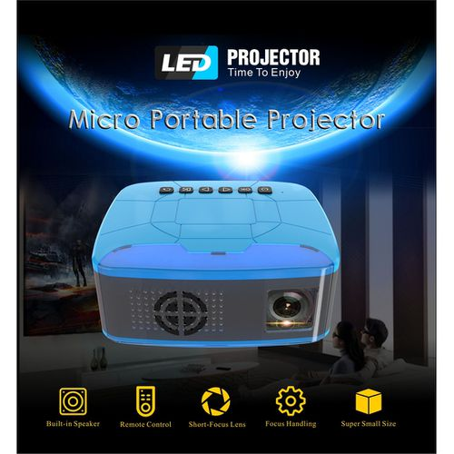Mini Led Pico Projector Home Theater HD 1080P Projector Compatible With TV Stick