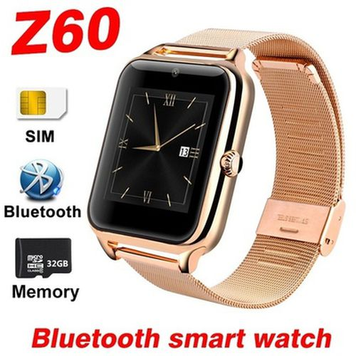 Touch Screen Z60 Smart Watch Men With Bluetooth Phone Call 2G GSM SIM TF Card Camera Smartwatch Android Relogio Inteligente PK DZ09 Relogio