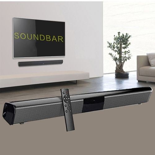 2019 Latest Luxury Upgrade Wireless Bluetooth Soundbar Stereo Speaker TV Home Theater Sound Bar for 3.5mm Output TV